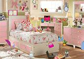 Objets dans une chambre de fille