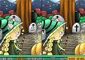 6 différences: Emma à Halloween