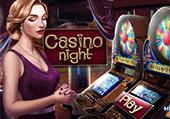 Nuit aux casinos à Las vegas