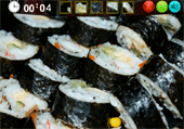 Morceaux de sushis