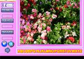 Lettres cachées dans les fleurs