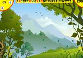 Lettres cachées dans des forêts