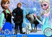 Lettres cachées et le reine des neiges