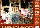Lettres cachées dans des chambres d'enfants
