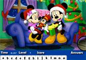 Lettres cachées avec Mickey à Noël