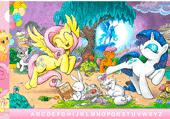 Petits poneys et lettres cachées
