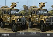Différences et camions militaires