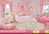 Coeurs à trouver dans chambre rose