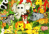 Zoo Chiffres Cachés