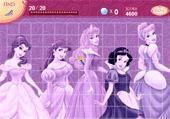 Trouve des objets de princesses