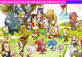 Lettres de l'alphabet et mangas